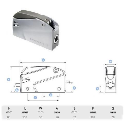 Lewmar Superlock D2 Single Halat Kilidi - 10-12mm.