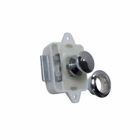 Osculati Mini Push-Lock Classic Kulplu Kilit - Kromaj
