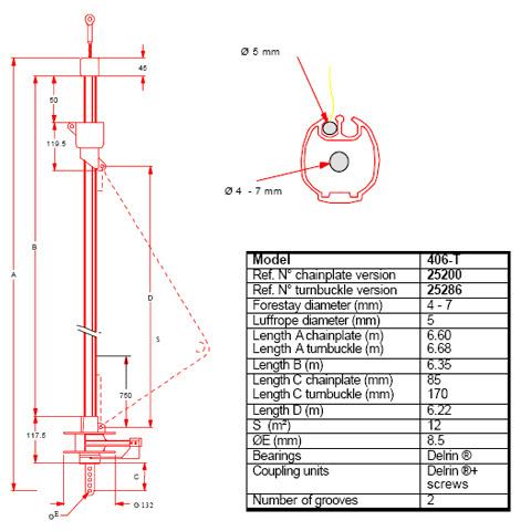 Plastimo 406T Yelken Sarma Sistemi