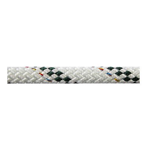 Polyropes Poly-Braid 24 Iskota Halatı 6mm. Beyaz-Yeşil