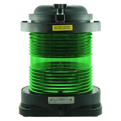 D.H.R. DHR55 Seyir Feneri Cam Elyaf Takviyeli Siyah Plastik - 360° - Yeşil