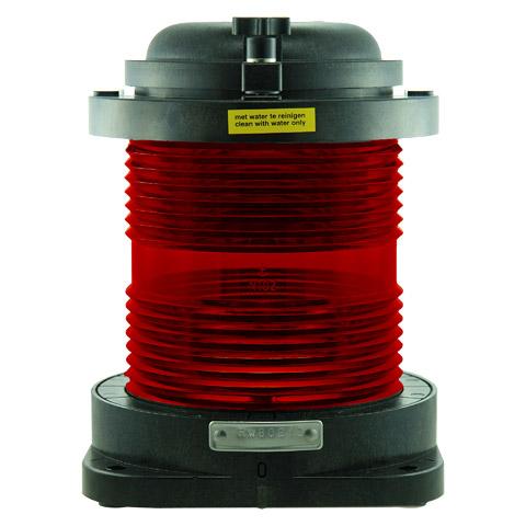 D.H.R. DHR55 Seyir Feneri Cam Elyaf Takviyeli Siyah Plastik - 360° - Kırmızı
