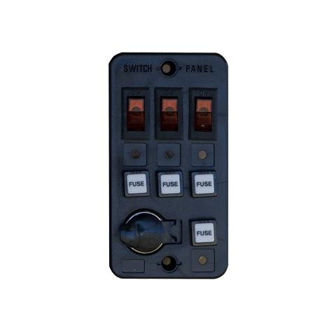 Tmc Switch Panel 3'lü 12V 15 A. Priz Soketli