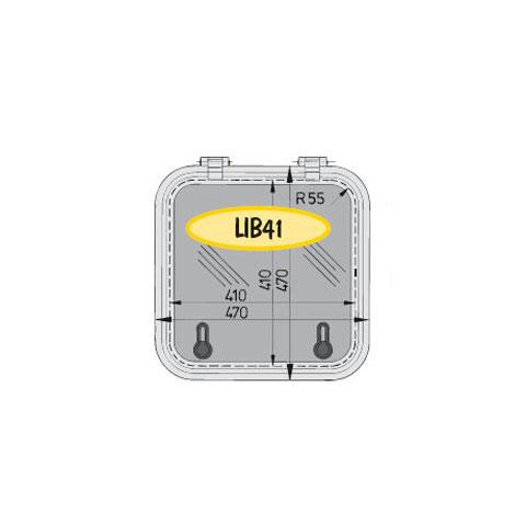 Vetus Libero LIB41 Hatch 470x470mm. - Alüminyum