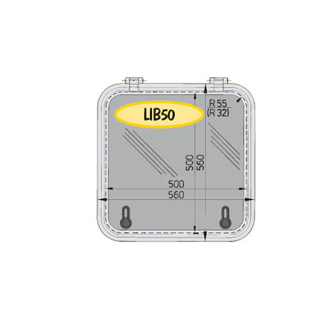 Vetus Libero LIB50 Hatch 560x560mm. - Alüminyum