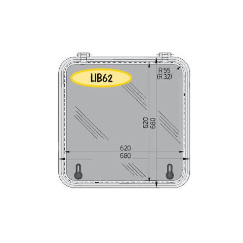 Vetus Libero LIB62 Hatch 680x680mm. - Alüminyum