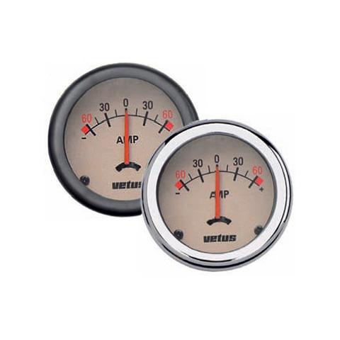 Vetus Ampermetre - Krem Kadranlı