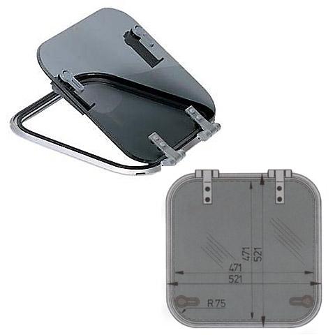 Vetus Planus PLA50 Hatch 521x521mm. - Alüminyum