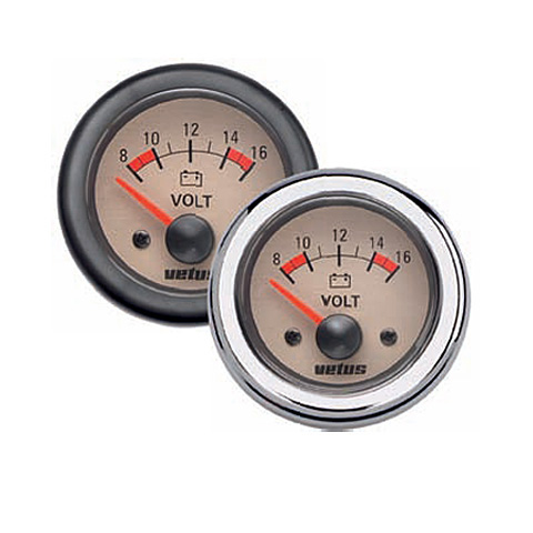 Vetus Voltmetre 12V - Krem Kadranlı