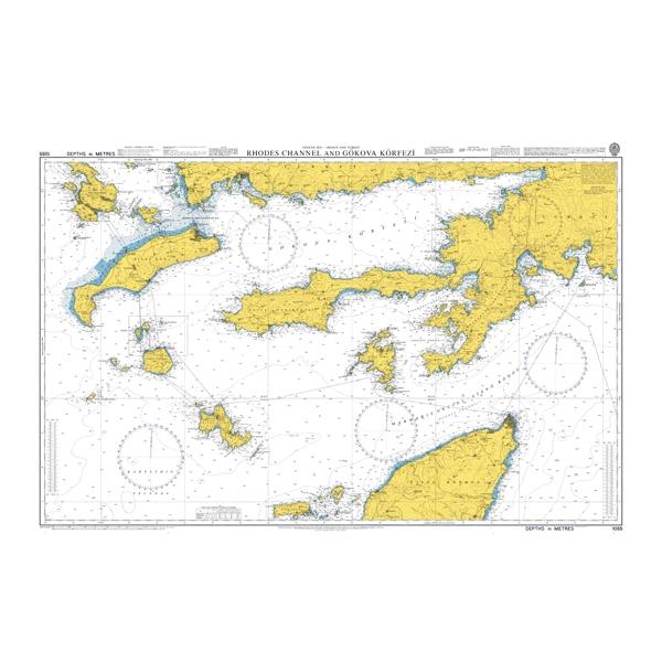 Admiralty Seyir Haritası 1055 Rodes Kanalı - Gökova Körfezi