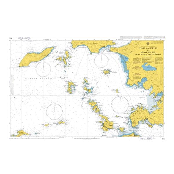 Admiralty Seyir Haritası 1056 - Nisos Kalymnos to Nisos Ikaria including Gulluk Korfezi