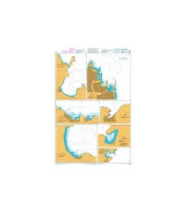 Admiralty Seyir Haritası 1532 Harbous In The Southern Dodekanisos