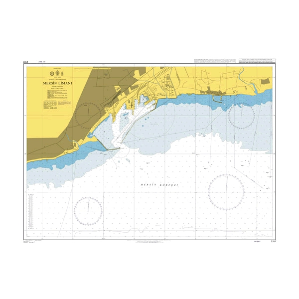 Admiralty Seyir Haritası 2101 - Mersin Limanı