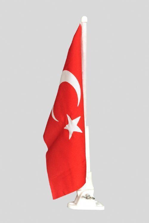 Bayrak Direği Plastik Bayraklı 40 cm