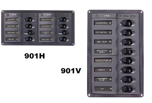 BEP Marine 901H Yatay Switch Panel - 8 Anahtarlı