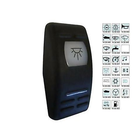 Carling V-Series Contura II Switch Kapağı - Hatch Sembollü