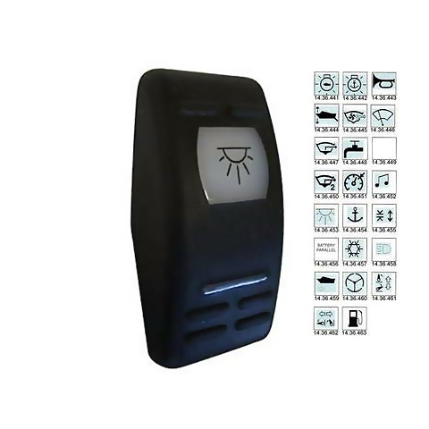 Carling V-Series Contura II Switch Kapağı - Konsol Aydınlatması Sembollü