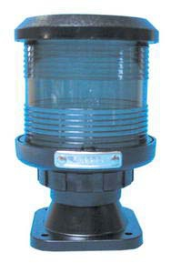 D.H.R. DHR35 Seyir Feneri Cam Elyaf Takviyeli Siyah Plastik - Demir - 360° Beyaz