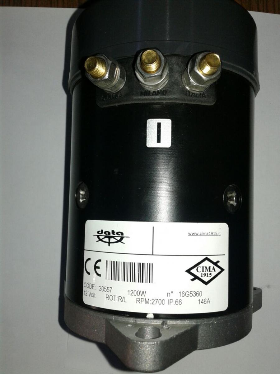 Data Elektrikli Irgat Motoru - 1200W 24V