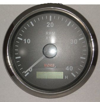 Mors Devir Göstergesi 12-24V - 4000 Rpm. - Siyah