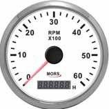 Mors Devir Göstergesi 12-24V - 6000 Rpm. - Beyaz