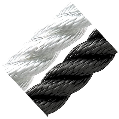 Dim-Ka 3 Kollu Yüzen Halat 10mm. Siyah