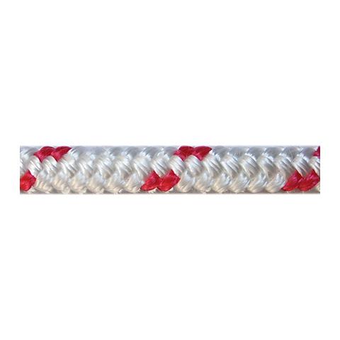 Dim-Ka Iskota Halatı 6mm. Beyaz-Kırmızı