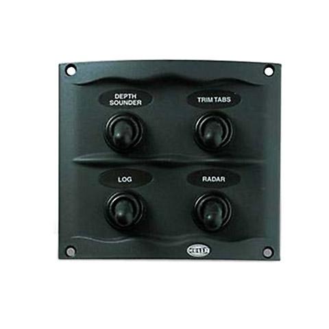Hella Marine Kompakt Switch Panel - 20 A. 4 Anahtarlı - Gri