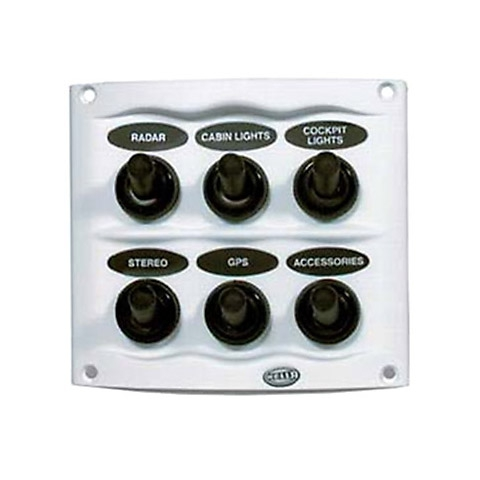 Hella Marine Kompakt Switch Panel - 20 A. 6 Anahtarlı - Gri