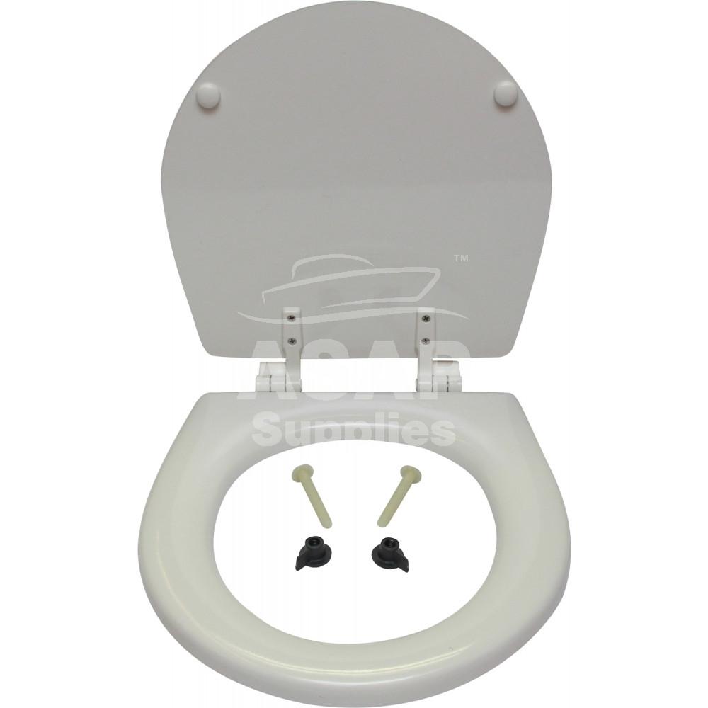ITT Jabsco Ahşap Tuvalet Kapağı - Compact - Beyaz