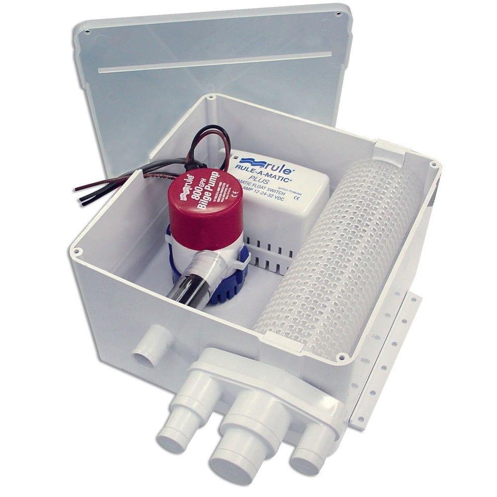 ITT Rule 98A Multi-Port Duş Tahliye Sistemi 800 GPH 12V
