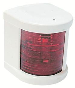 Küçük Seyir Feneri Beyaz Polikarbon - Ledli 12V - İskele - Kırmızı