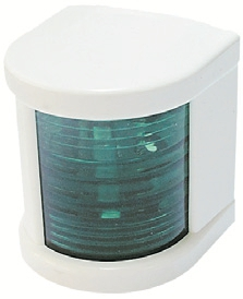 Küçük Seyir Feneri Beyaz Polikarbon - Ledli 12V - Sancak - Yeşil