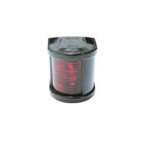 Küçük Seyir Feneri Siyah Polikarbon - Ledli 12V - İskele - Kırmızı