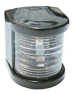 Küçük Seyir Feneri Siyah Polikarbon - Ledli 12V - Pupa - Beyaz