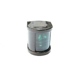 Küçük Seyir Feneri Siyah Polikarbon - Ledli 12V - Sancak - Yeşil