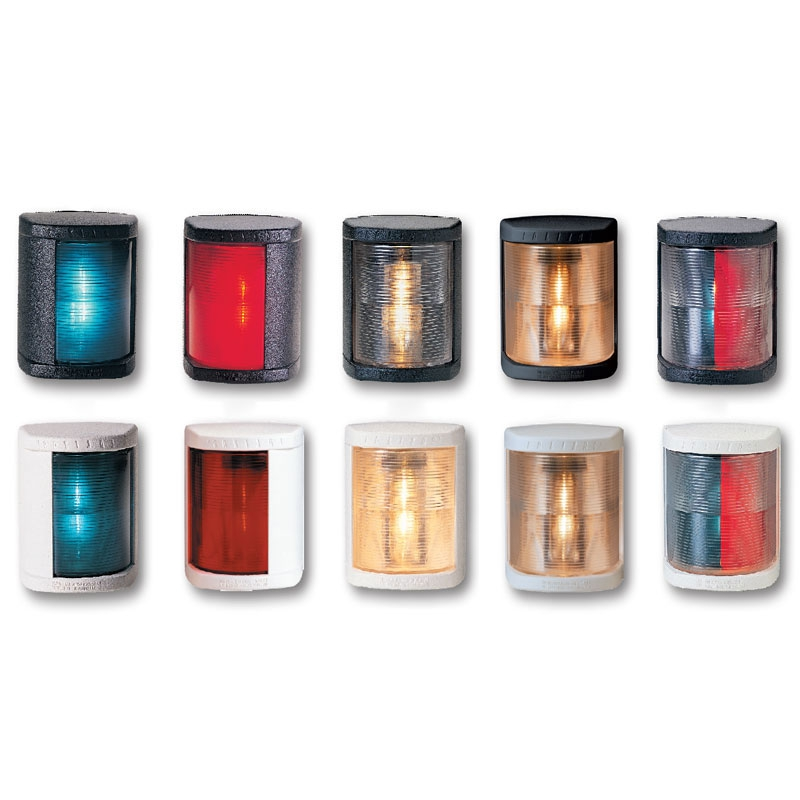 Lalizas MAXI N 20 Seyir Feneri Siyah Polikarbon - İskele - Kırmızı