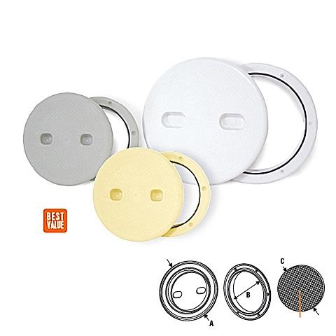 Lalizas Plastik Kontrol Kapağı - Beyaz - Ø=164mm.