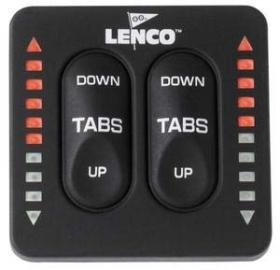 Lenco Marine 123SC-Indicator Flap Switch Kontrol Paneli - Trim Göstergeli