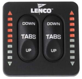 Lenco Marine Trim göstergeli Flap Switch Kontrol Paneli