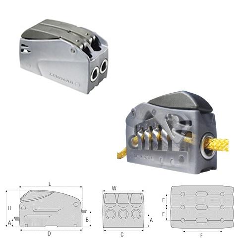 Lewmar Superlock D1 Double Halat Kilidi - 6-8mm.