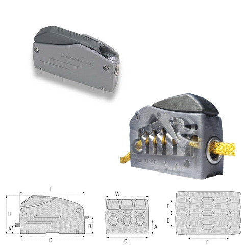 Lewmar Superlock D1 Single Halat Kilidi - 6-8mm.
