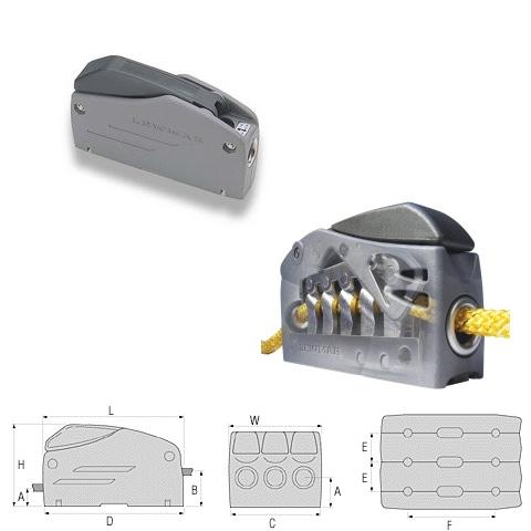 Lewmar Superlock D1 Single Halat Kilidi - 8-10mm.