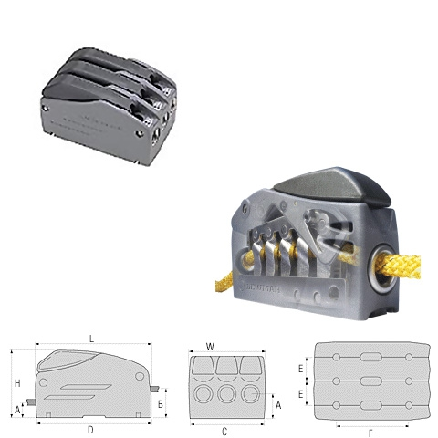 Lewmar Superlock D1 Triple Halat Kilidi - 6-8mm.