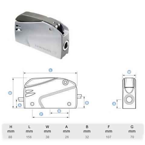 Lewmar Superlock D2 Single Halat Kilidi - 8-10mm