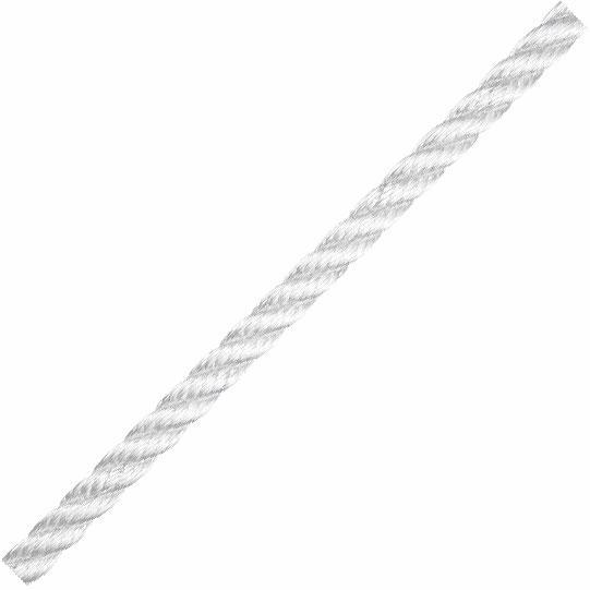 Liros 3 Kollu Polyester Bağlama Halatı 10mm. Beyaz