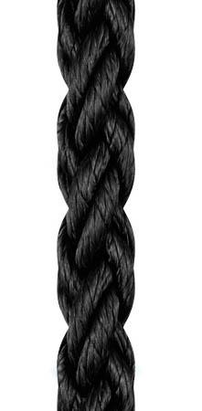 Liros Squareline-PP 8 Kollu Yüzen Bağlama Halat 18mm. Siyah