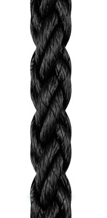 Liros Squareline-PP 8 Kollu Yüzen Bağlama Halat 24mm. Siyah