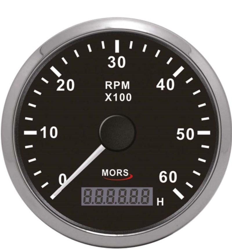 Mors Devir Göstergesi 12-24V - 6000 Rpm. - Siyah