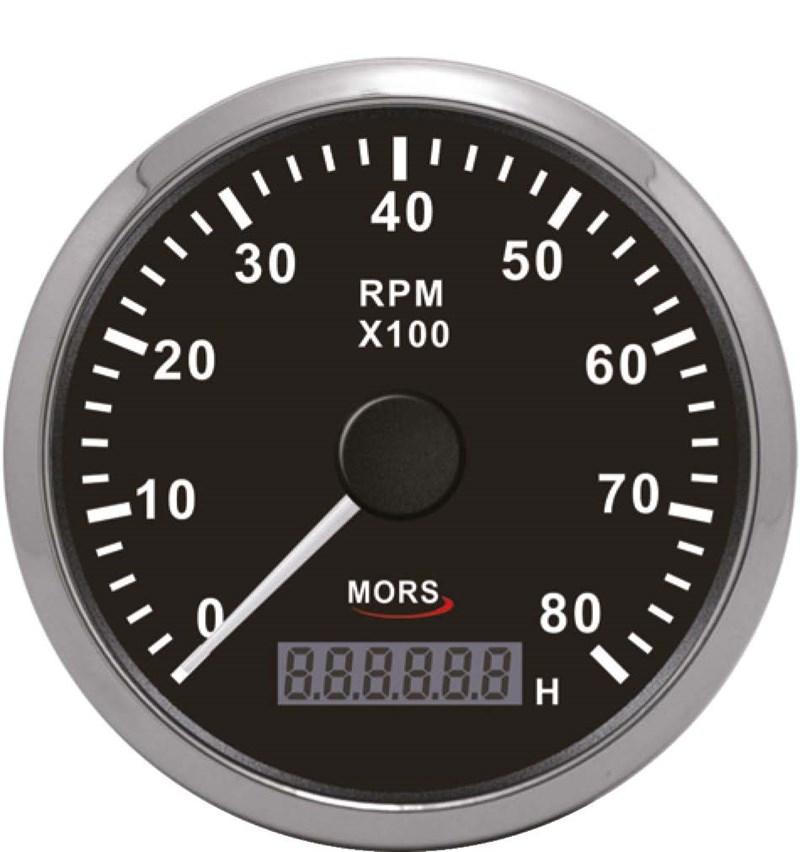 Mors Devir Göstergesi 12-24V - 8000 Rpm. - Siyah